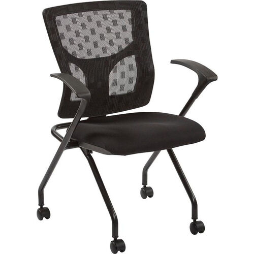 Pro-Line II ProGrid Checkered Mesh Back Folding Chair - Set of 2