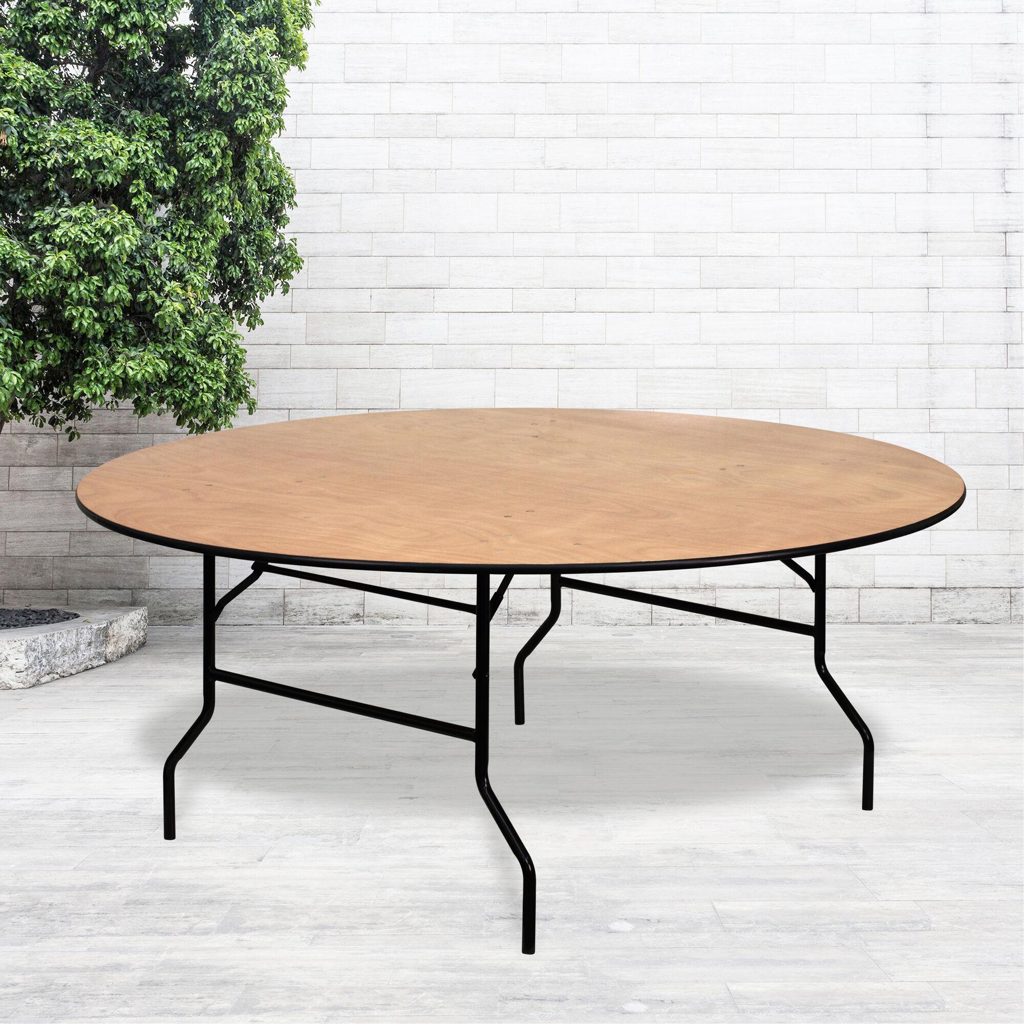 72rnd Wood Fold Table Yt Wrft72 Tbl Gg Foldingchairs4less Com