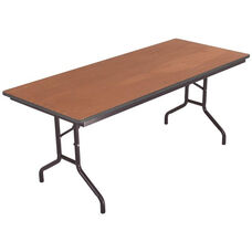 Sealed and Stained Plywood Top Table with Vinyl T - Molding Edge - 18