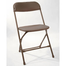 500 lb. Max Poly Performance Folding Chair - Set of 6 - Brown