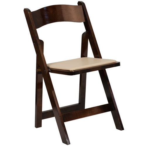 Our HERCULES Series Fruitwood Wood Folding Chair with Vinyl Padded Seat is on sale now.