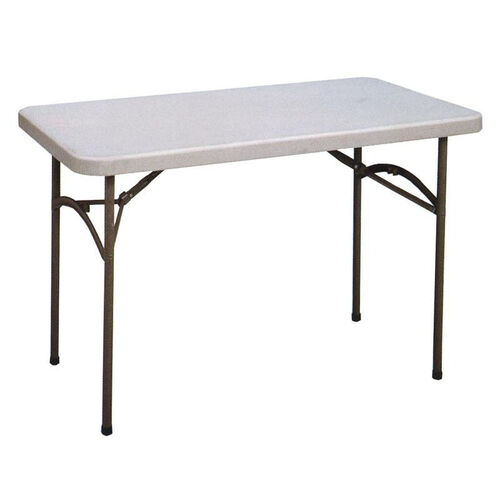 Our Economy Blow-Molded Rectangular Plastic Top Folding Table - 48