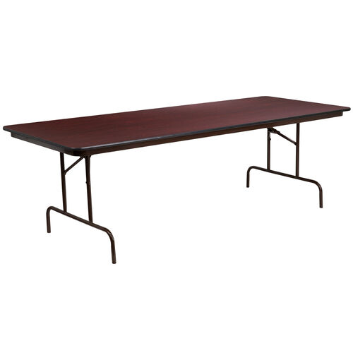 Our 8-Foot High Pressure Mahogany Laminate Folding Banquet Table is on sale now.