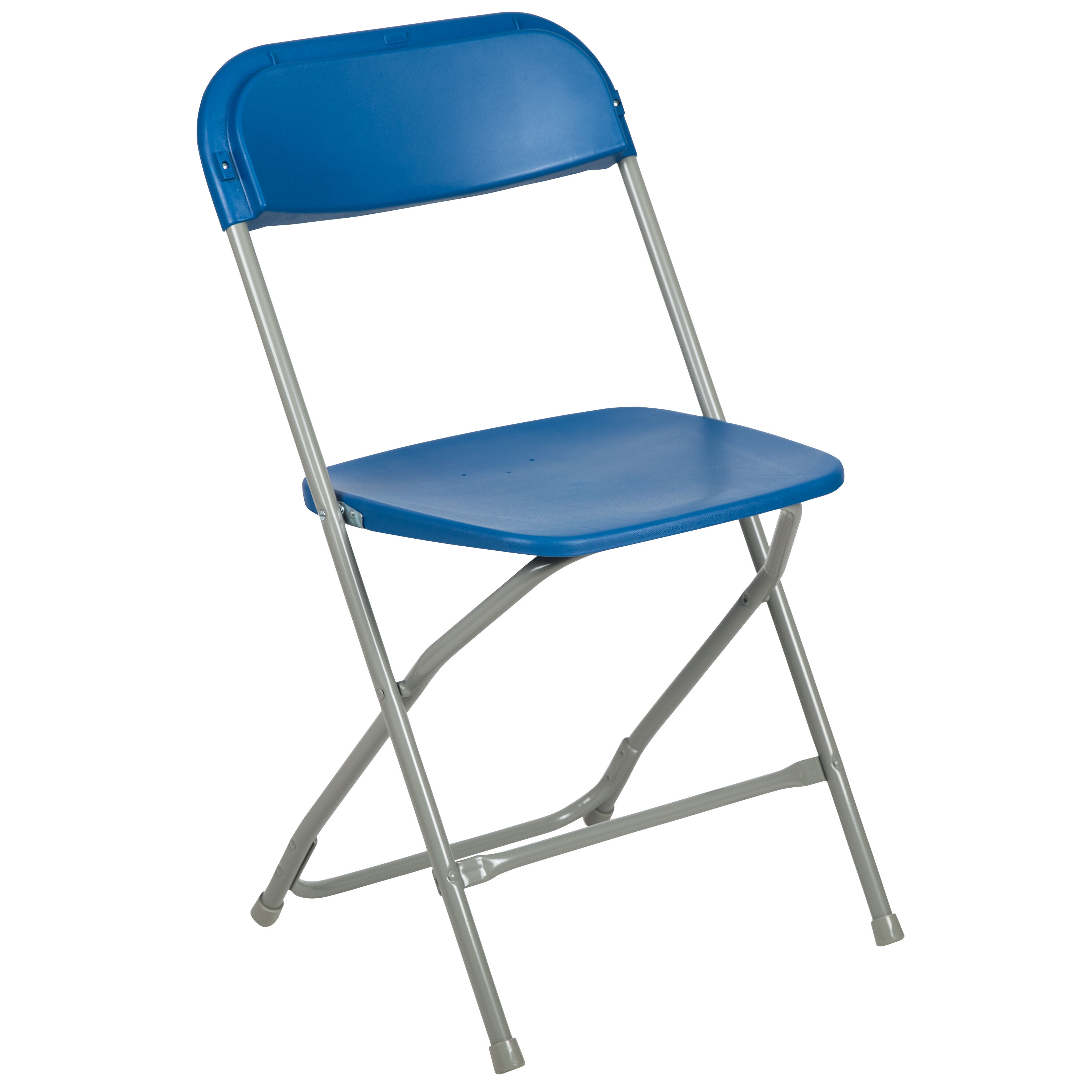 Capacity Premium Blue Plastic Folding Chair