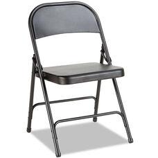 Alera® Steel Folding Chair- Graphite- 4/Carton