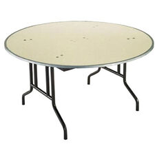 Customizable 810 Series Multi Purpose Round Deluxe Hotel Banquet/Training Table with Plywood Core Top - 72