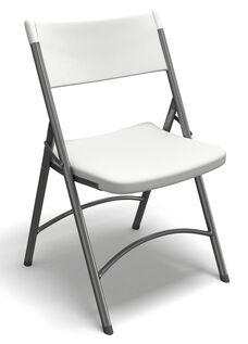 Event Series Heavy Duty 250 lbs. Capacity Folding Chair - Set of 4 - Textured White