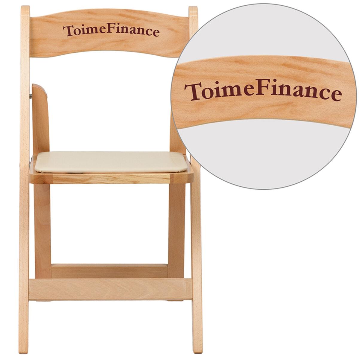 Vyl Natural Wood Folding Chair Xf 2903 Nat Wood Emb Vyl Gg
