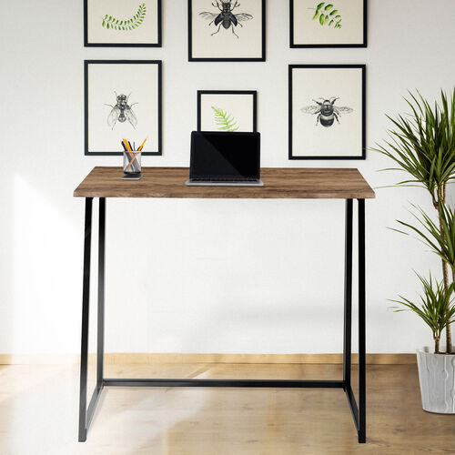 """Our Small Rustic Natural Home Office Folding Computer Desk - 36"""" is on sale now."""