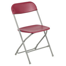 Hercules™ Series Plastic Folding Chair - Red - 650LB Weight Capacity