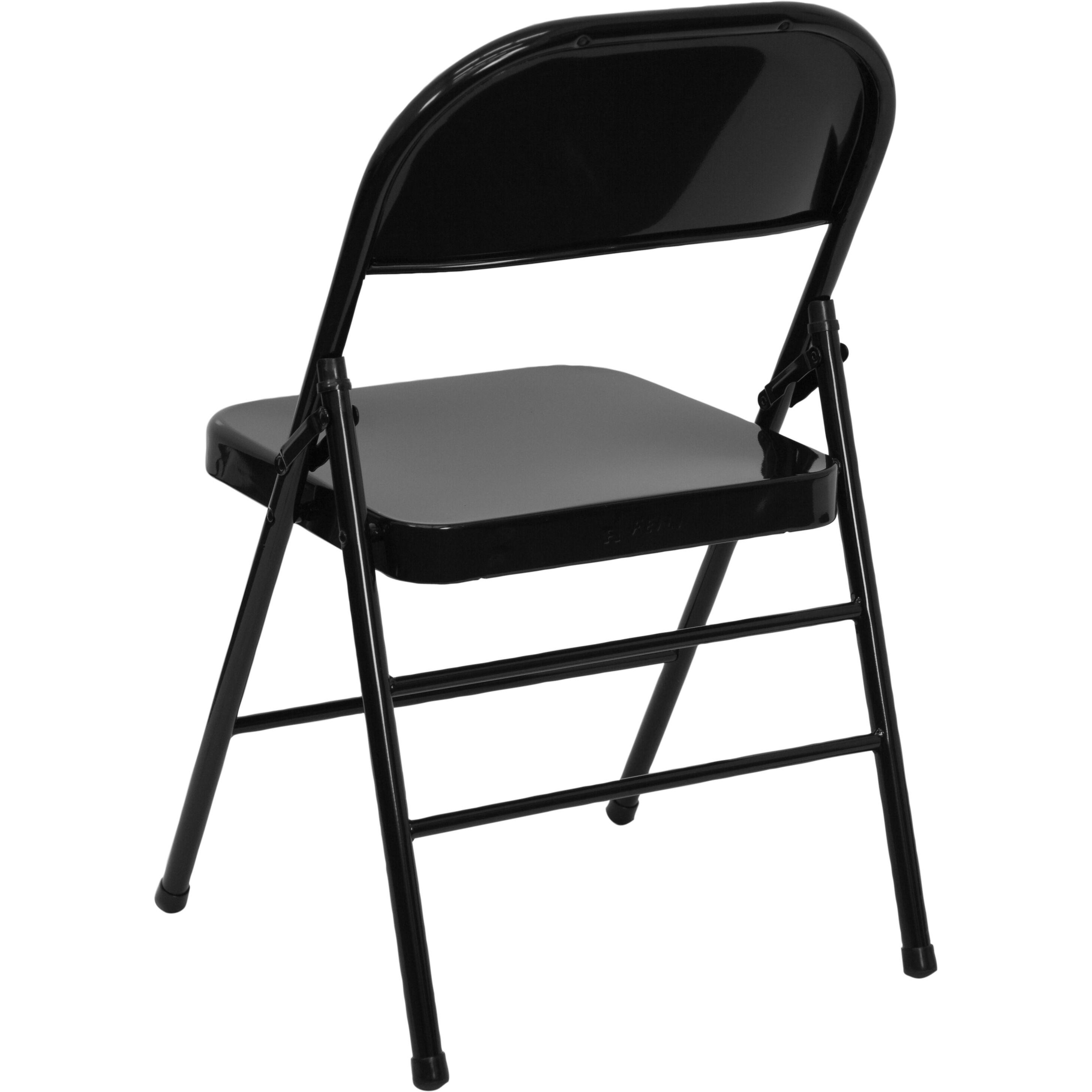 ... Our HERCULES Series Triple Braced U0026 Double Hinged Black Metal Folding  Chair Is On Sale ...