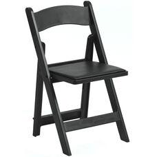 1000 lb. Max Black Resin Folding Chair