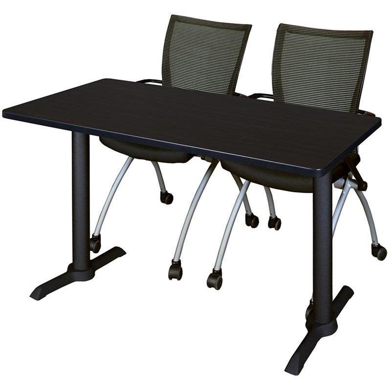 ... Our Cain 48u0027u0027W X 24u0027u0027D Laminate Training Table With 2 ...