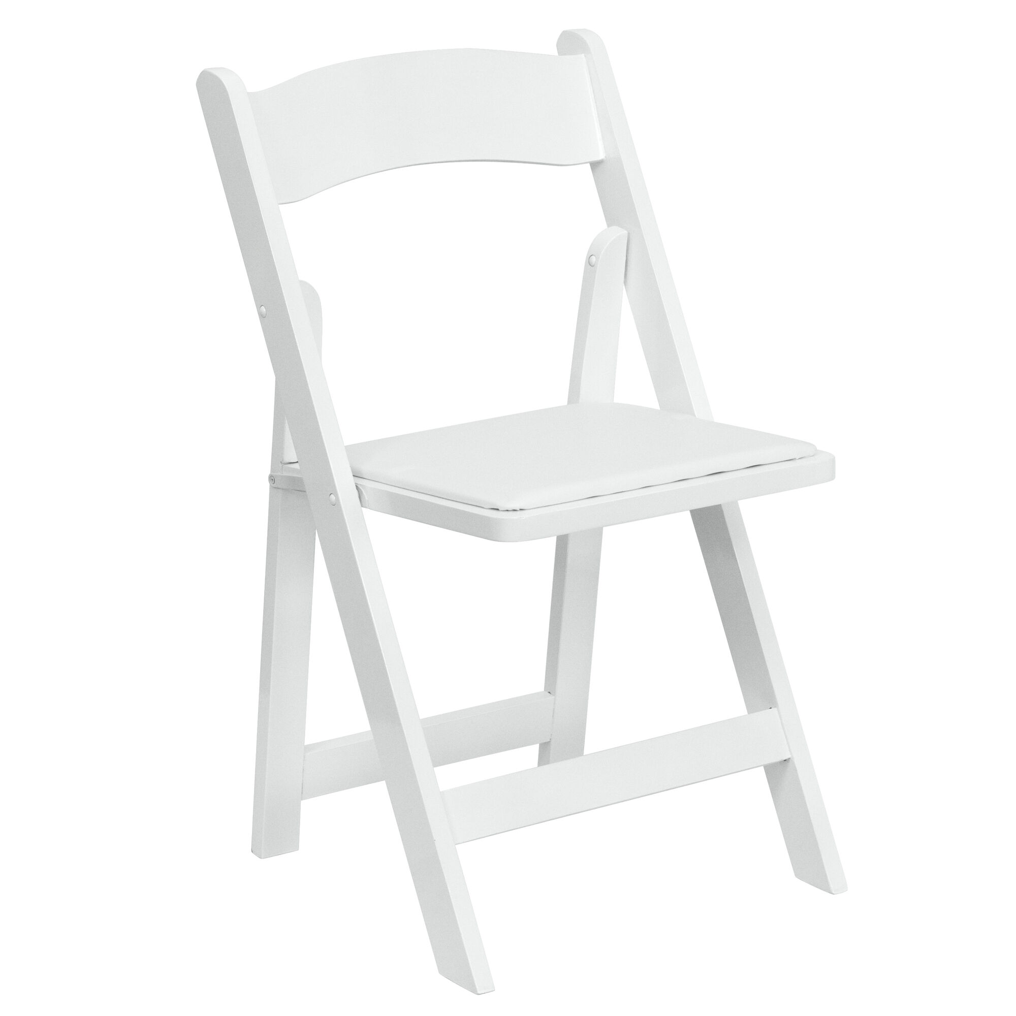 White Wood Folding Chair Xf 2901 Wh