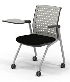 Thesis™ Static Back Arm Chair with Fabric Seat and Tablet Arm - Set of 2 - Black