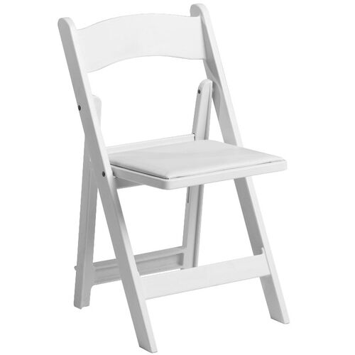 Our 1000 lb. Max White Resin Folding Chair is on sale now.