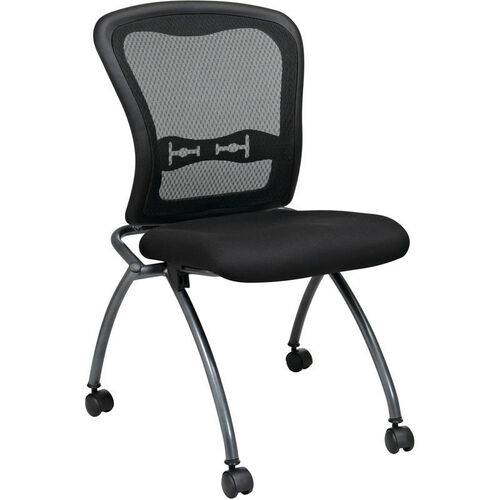 Our Pro-Line II Deluxe Armless Folding Chair with ProGrid® Mesh Back and Casters - Set of 2 - Black is on sale now.