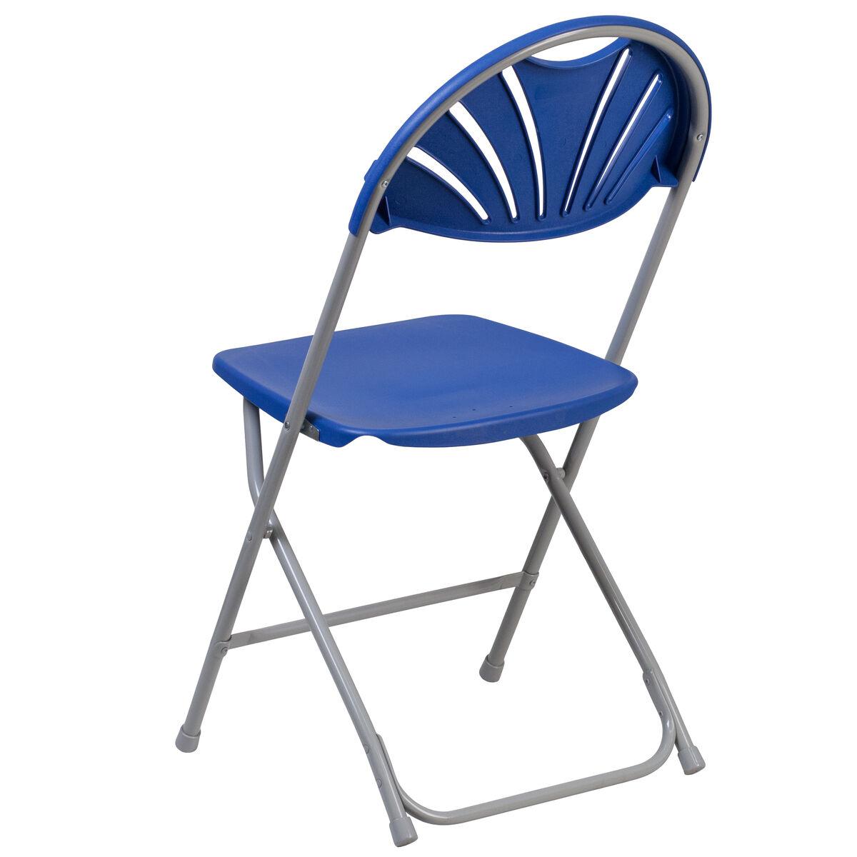 Blue Plastic Folding Chair Le L 4 Bl Gg