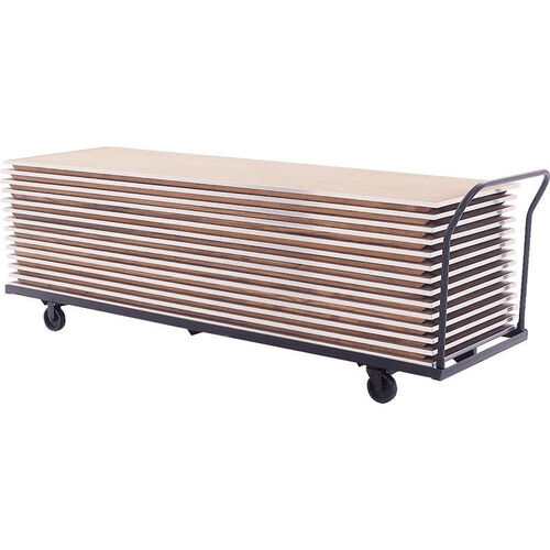 Our Heavy Duty Flat Storage Table Truck for Tables Up to 96