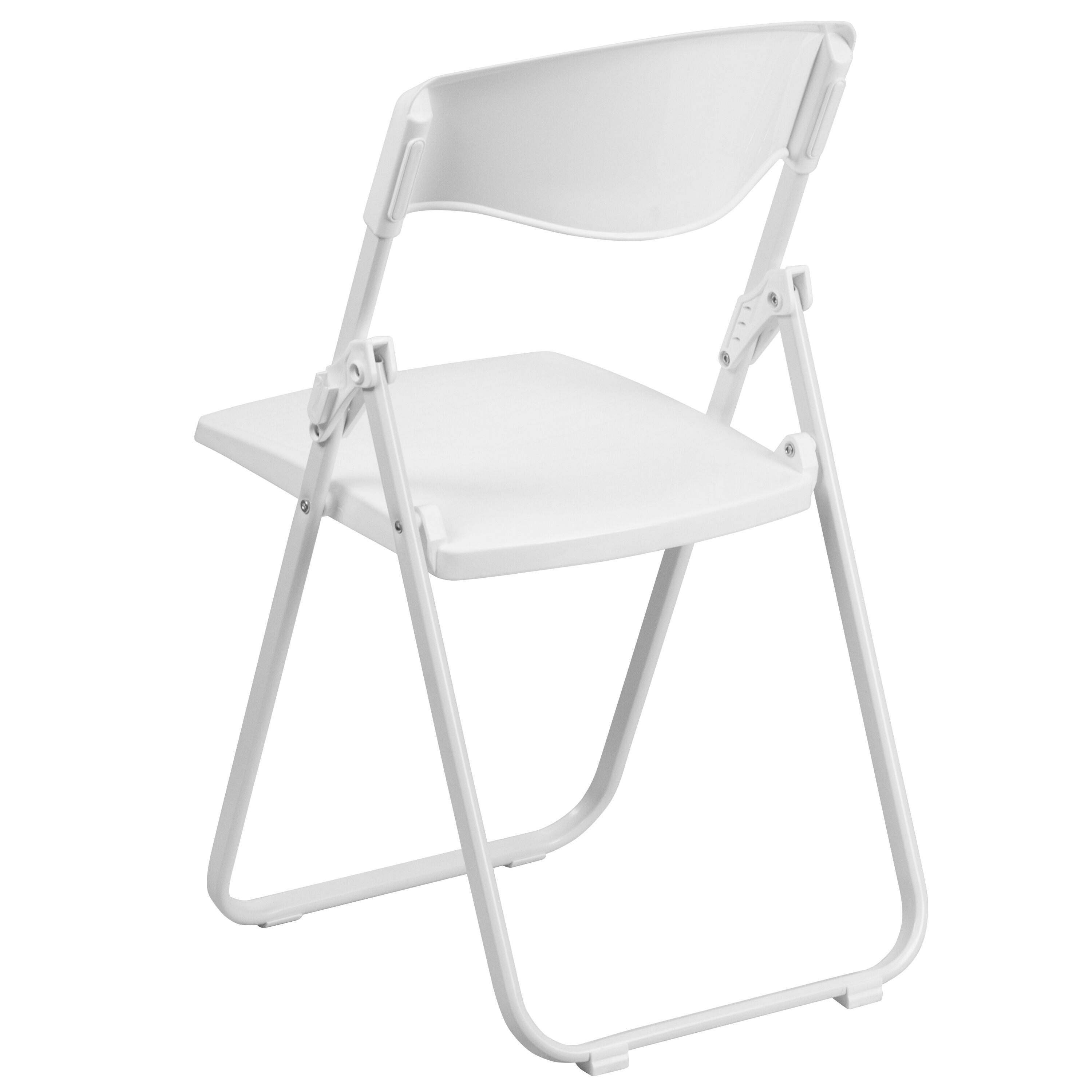 Capacity Heavy Duty White Plastic Folding Chair With Built  ...