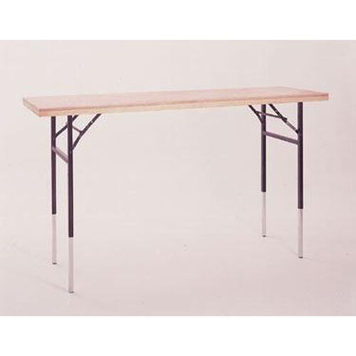 Dual Height Display Table with Pine Flush Edge and Plywood Top - 72