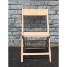 Wood Folding Chair with Slatted Seat - Natural