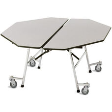 Fold-N-Roll Octagon Laminate Cafeteria Table with Casters - 60