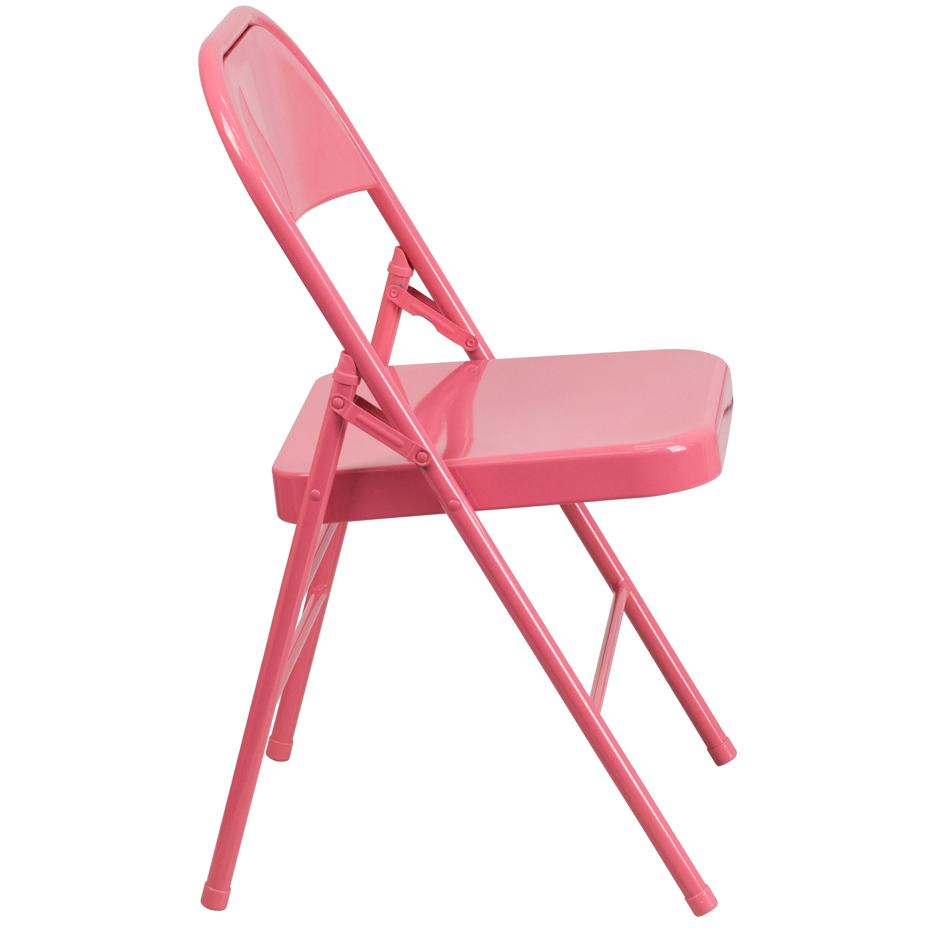 Genial ... Our HERCULES COLORBURST Series Bubblegum Pink Triple Braced U0026  Double Hinged Metal Folding Chair Is ...