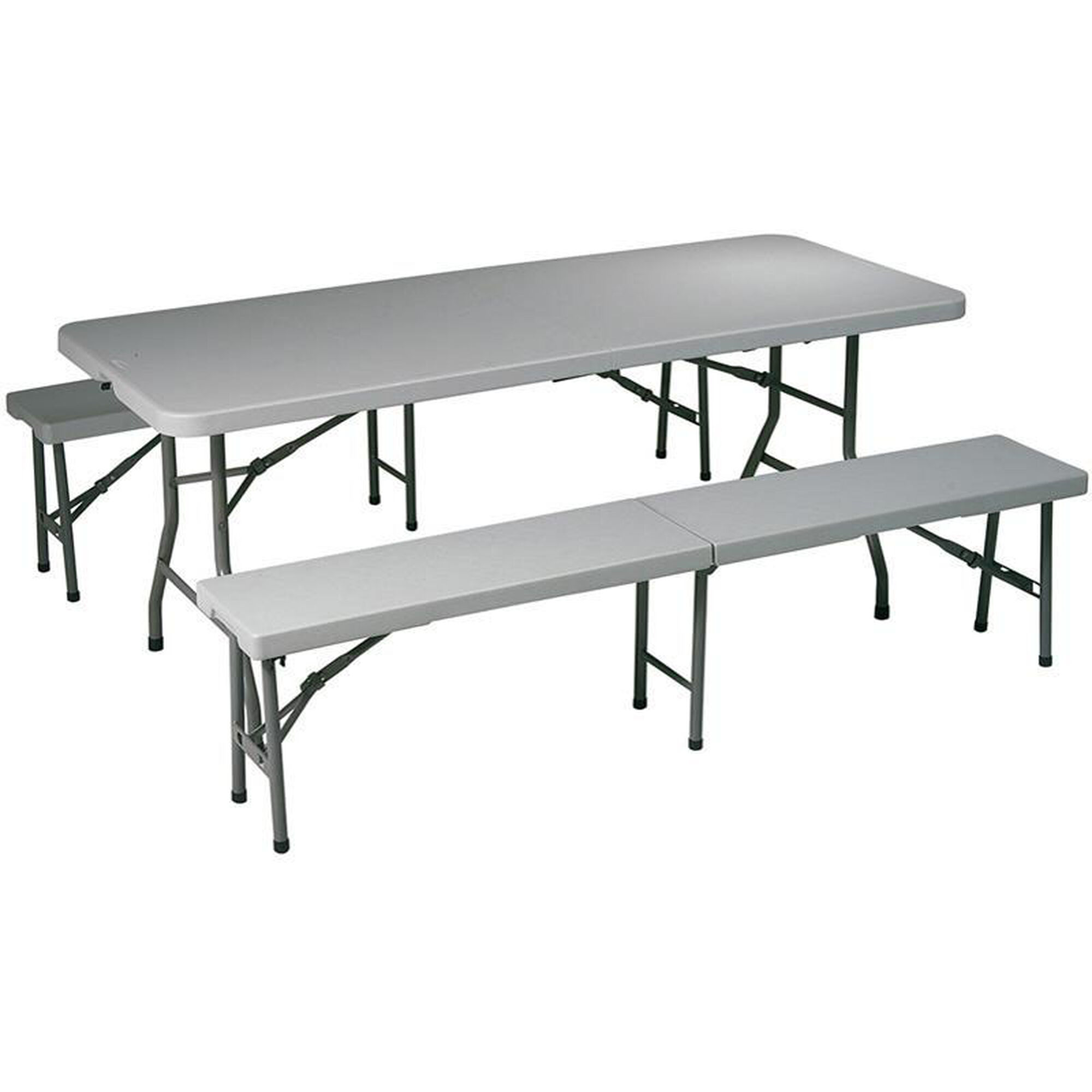 Our Work Smart Indoor Or Outdoor Use 3 Piece Folding Table