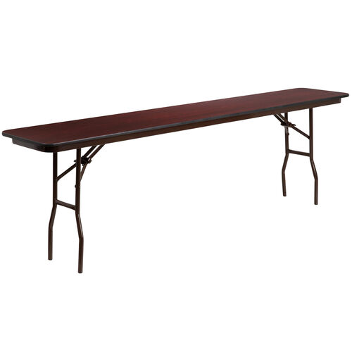 Our 8-Foot Mahogany Melamine Laminate Folding Training Table is on sale now.