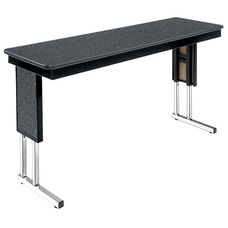 Customizable Symposium Adjustable Height Training Table with Chrome Legs - 20