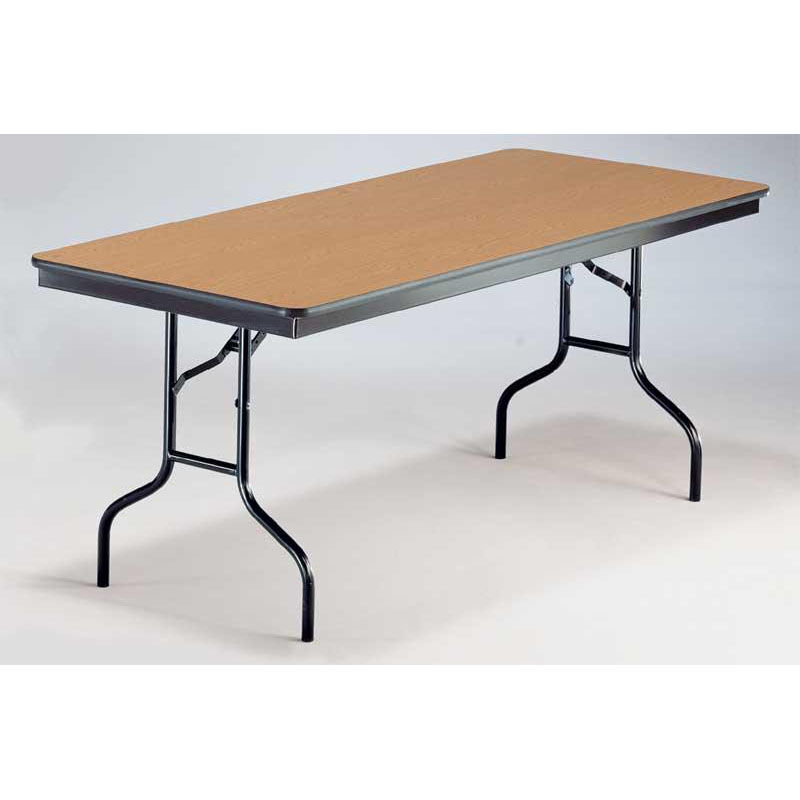 Our EF Series Long Rectangular Plywood Core Folding Table   30