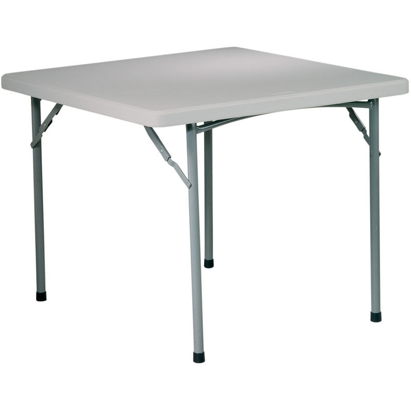 ... Our Work Smart 36u0027u0027 Square Resin Folding Table With Powder Coated Frame  Is On
