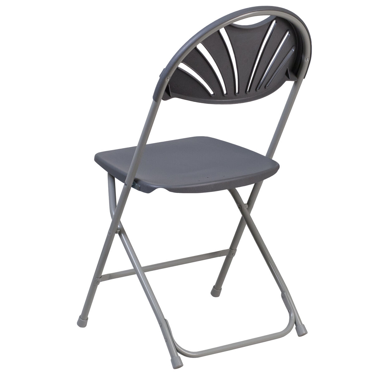 Prime Hercules Series 650 Lb Capacity Charcoal Plastic Fan Back Folding Chair Andrewgaddart Wooden Chair Designs For Living Room Andrewgaddartcom