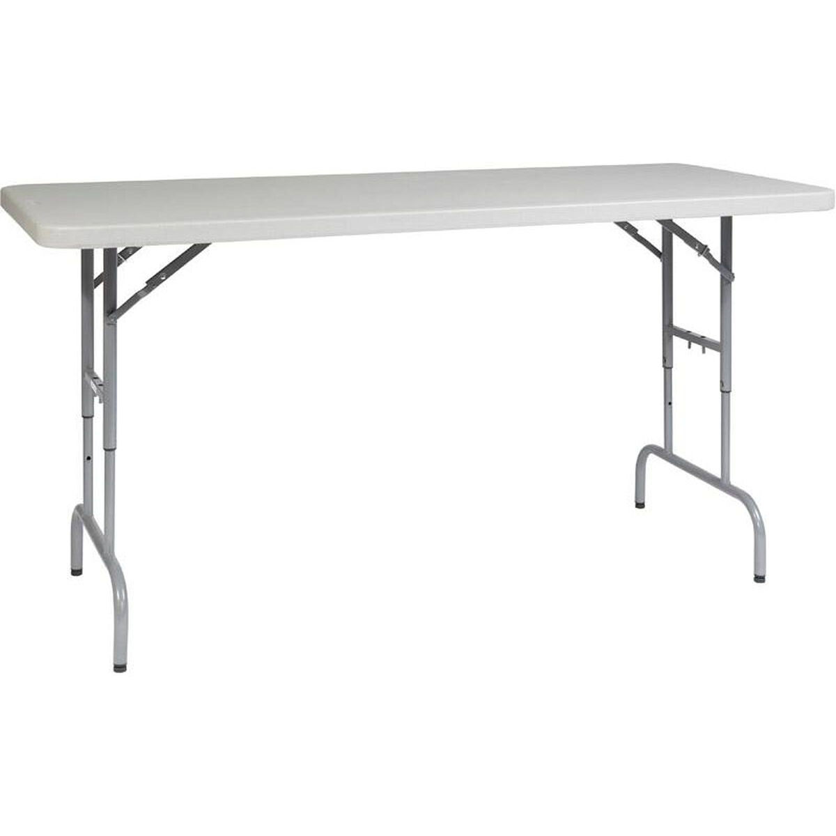 6969f6877a1 ... Our Work Smart 6  Light Weight Resin Multi Purpose Folding Table with  Height Adjustment is ...
