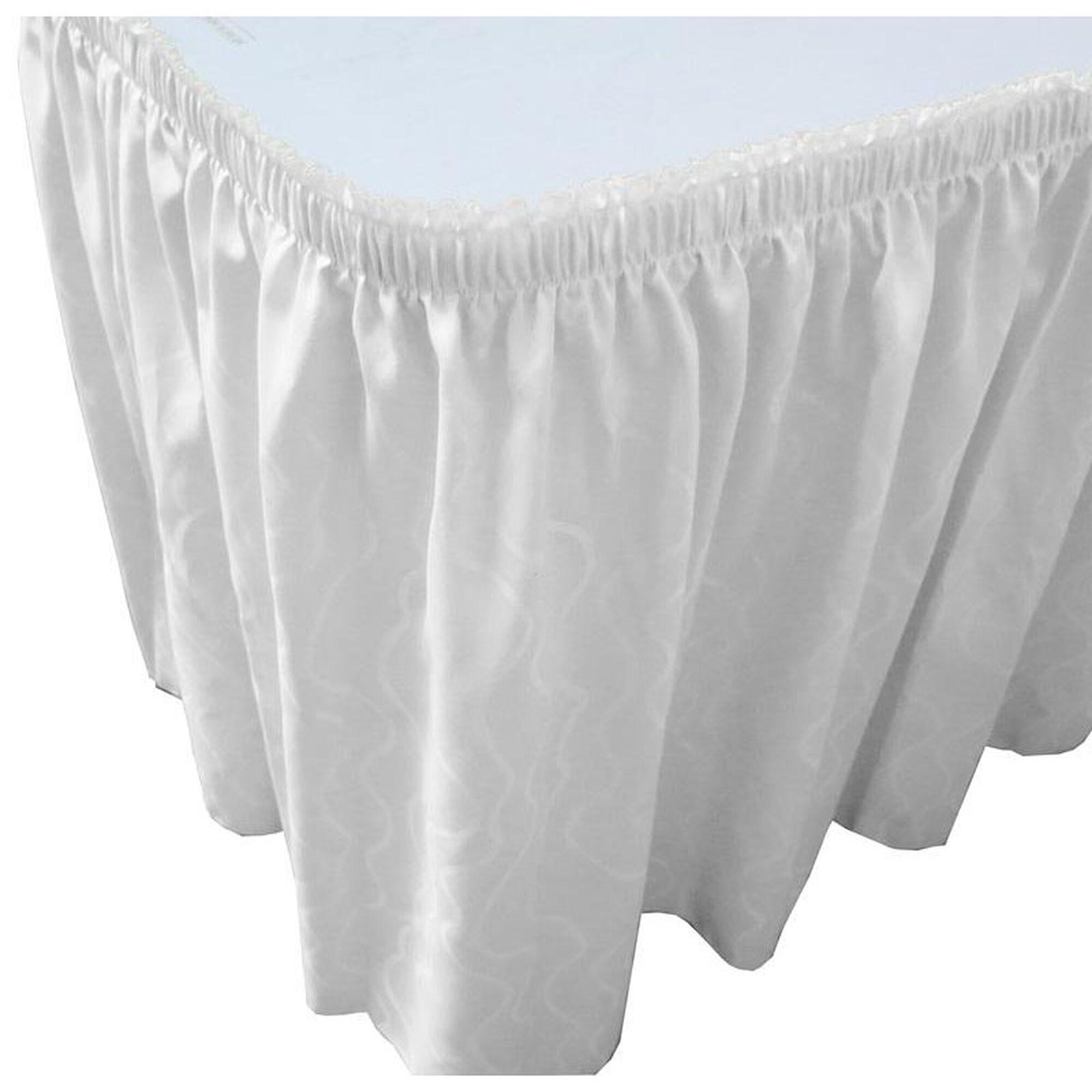 White Pleated Table Skirt WAV1V1329WHT