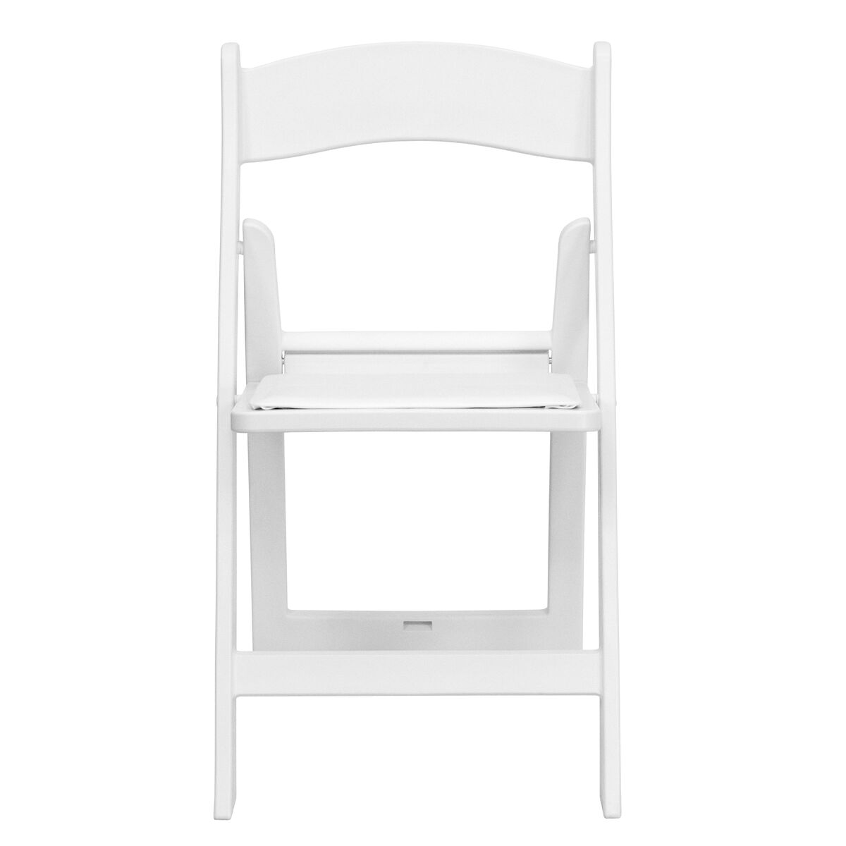 Wondrous Hercules Series 1000 Lb Capacity White Resin Folding Chair With White Vinyl Padded Seat Squirreltailoven Fun Painted Chair Ideas Images Squirreltailovenorg