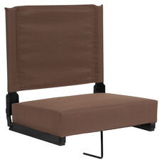 Grandstand Comfort Seats by Flash with Ultra-Padded Seat in Brown