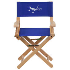 Embroidered Kid Size Directors Chair in Blue