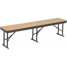 High Pressure Laminate Top Folding Cafeteria Bench with Particleboard Core and Rounded Frame Corners - 15