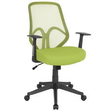 Salerno Series High Back Green Mesh Chair with Arms