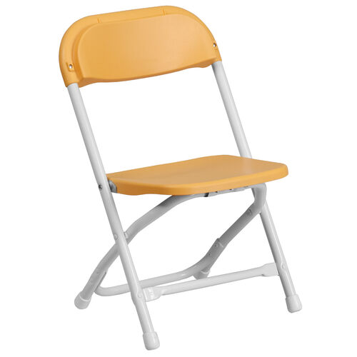 Our Kids Yellow Plastic Folding Chair is on sale now.