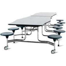 Avant™ Edgescape™ Foldable Cafeteria Table with 12 Attached Round Seats - 120