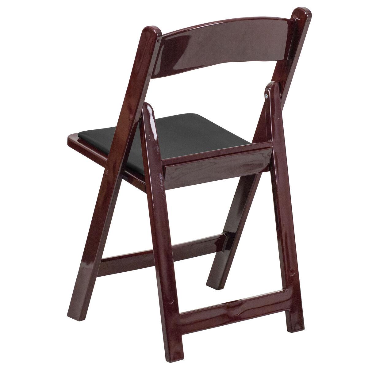 Mahogany Resin Folding Chair Le L 1 Mah Gg