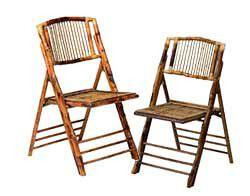... Bamboo Folding Chairs ...