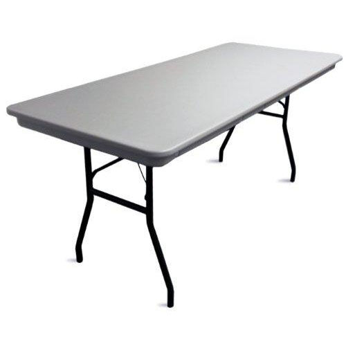 Commercialite Rectangular Polyethylene Folding Table with Locking Legs - 60