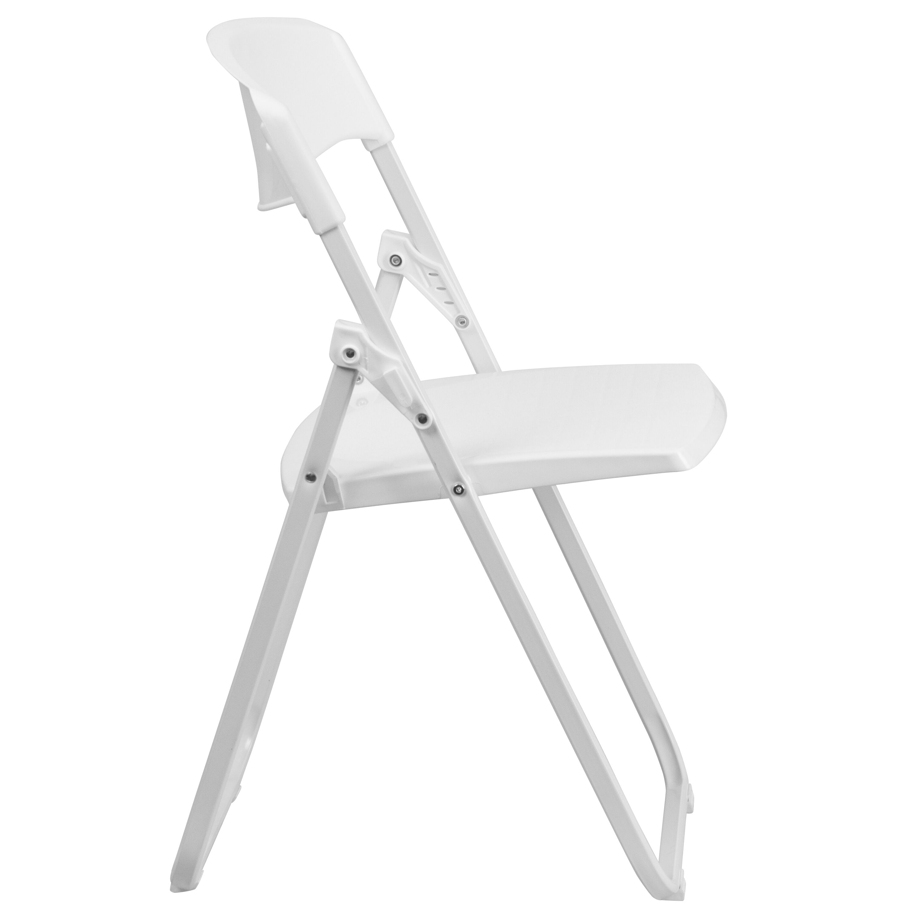 Flash Furniture HERCULES Series 880 Lb. Capacity Heavy Duty White Plastic  Folding Chair With Built In Ganging Brackets RUT I WHITE GG |  FoldingChairs4Less. ...