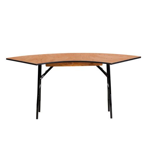 Our 5.5 ft. x 2 ft. Serpentine Wood Folding Banquet Table is on sale now.