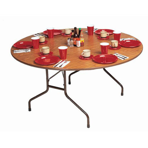 Our Fixed Height Round Melamine Top Folding Table - 60
