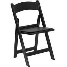Advantage Black Resin Folding Chairs